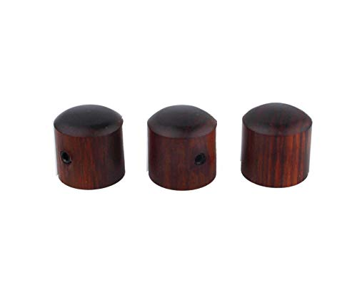 """Guyker 3Pcs Red Sandalwood Potentiometer Control Knobs Dia. 6mm (0.24"""") Shaft Pots - Rotary Volume Tone Knob Replacement Part for Electric Guitar or Precision Bass"""