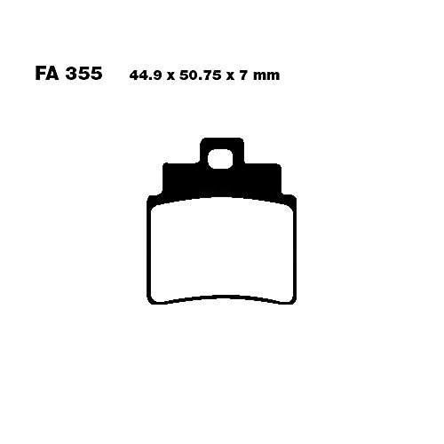 EBC Goldstuff remblokken (intermetaal) voor Arctic Cat - 250 DVX  , Gilera - Oregon 250  , Kymco - KXR 250   MXU 250   Urban Quad   Maxxer 300  , Masai - A300 Quad   A450 Quad