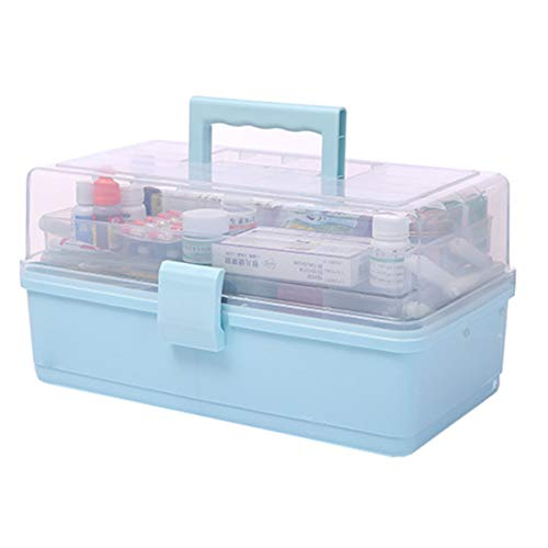 MAJOZ0 Haushaltsmedizin Box,Erste-Hilfe-Kit, Hausapotheke Tragbare Aufbewahrungsbox,Plastik Erste Hilfe Box