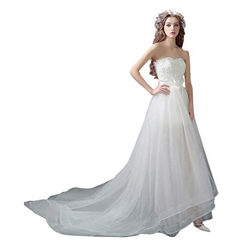 Vestido de Novia Elegante con Hombros Descubiertos para Mujer Vestido de Novia...