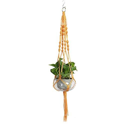 Monbedos 1 stuks plantenhangers hangers katoenen touw macramé bloempot nettas voor binnen buiten plafond balkon (geen bloempot) B