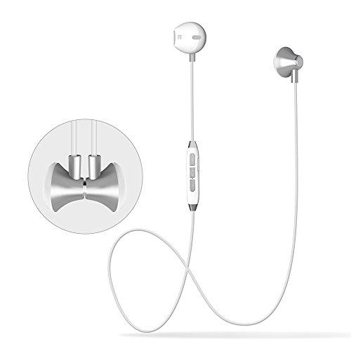 orit Bluetooth Kopfhörer In Ear,Magnetische Headsets Sport Kopfhörer CVC6.0 Noise Cancelling Mit HD Mikrofon Handy Freisprechen Headsets Bluetooth 4,5 Stunden Spielzeit für IOS and Android Phones