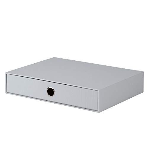 Rössler 1524452170 - S.O.H.O. Schubladenbox für DIN A4, mit Griffloch, stone