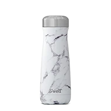 S'well Stainless Steel Travel Mug, 20 oz, White Marble