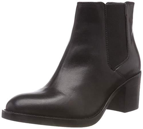 Clarks Damen Mascarpone Bay Schlupfstiefel, Schwarz (Black Leather), 38 EU