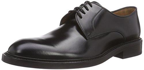 Lottusse L6710, Zapatos Derby con Cordones Hombre, Negro (Jocker P. Negro), 9