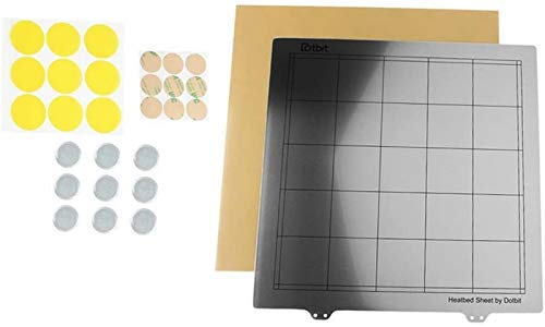 JJDSN Beheizte Bettdecke PEI Beheizte Bettplattform für 3D-Drucker 300x300mm