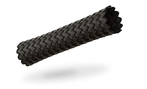 VIABLUE Sleeves * Geflechtschlauch * Black/SCHWARZ * Größe MEDIUM für Kabel-Ø von 5 bis 13 mm * Meterware * Gewebeschlauch/Kabelschutzhülle/Kabelschlauch * per m
