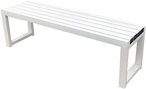 YZ-YUAN Banco de jardín Banco de Parque de 3 plazas Banco de terraza de jardín, Sillas de Porche Resistentes a la Intemperie sin Respaldo, sillones de balcón, Estructura de Madera Maciza anticorrosi