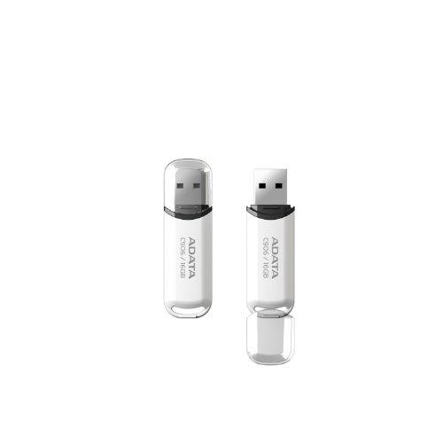 ADATA Memoria USB C906, 16GB, USB 2.0, Blanco (AC906-16G-RWH)