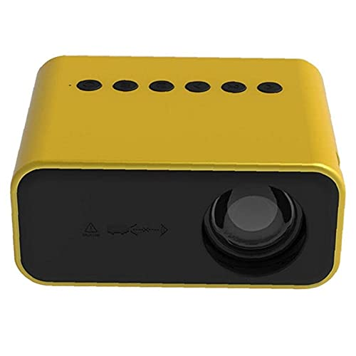 Kettles Mini proyector LED Video Proyector Home Media Player Theater Compatible con PC Smartphone TV Box DVD Equipo de vídeo para Home Cinema Outdoor Movie Party Game (Color : Yellow-au Plug)