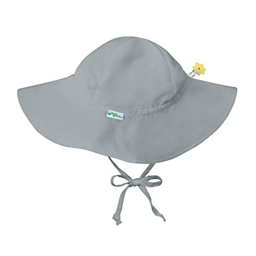 i play. Baby Brim Sun Protection Hat, Gray, 0-6 months