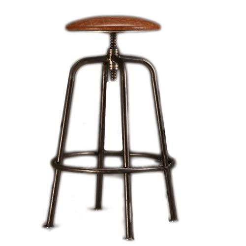 Barhocker Hausbar Schmiedeeisen Creative-Massivholz-Stab-Stuhl-Aufzug Bar Stuhl Bürohoch Hocker Kaffeemaschine Sessel