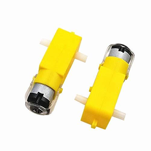 Robusto y duradero, 10 piezas de motor TT 130motor Smart Car Robot Gear Motor para Arduino DC3V-6V DC Gear accesorios de motor (color: amarillo)
