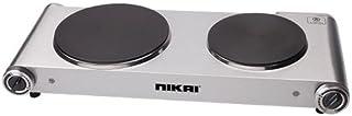Nikai 2500W Double Electric Hot Plate - Silver NKTOE5N2