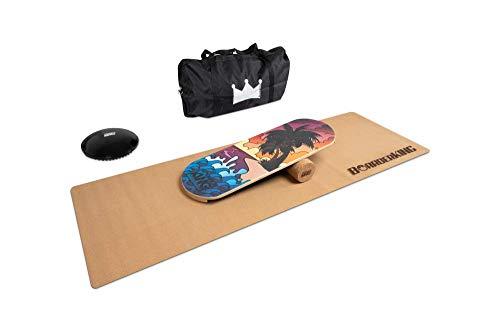 Indoorboard MEGA Bundles Balance Board Skateboard Surfboard Balanceboard (Classic Bali 100 mm)
