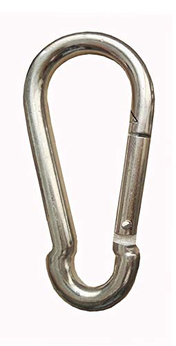 Mosquetón (10 unidades, 5 x 50 mm, acero galvanizado, DIN 5299)