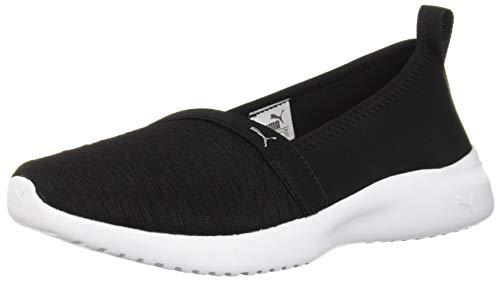 PUMA Women's Adelina Sneaker, Black Silver, 9 M US