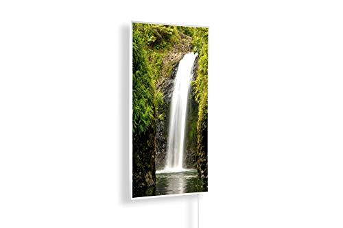 Könighaus Fern Infrarotheizung - Bildheizung in HD Qualität mit TÜV/GS - 200+ Bilder – mit Thermostat 7 Tage Programm - 800 Watt (14. Wasserfall)