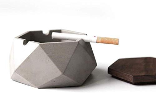 AMITD minimalistische cementasbak met deksel, industriële wind beton kunsttasbak draagbare persoonlijkheid decoratie