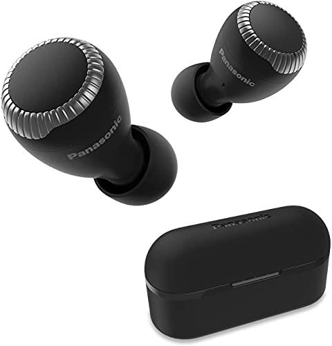 Panasonic RZ-S300WE-K - Auriculares True Wireless inalámbricos con Sensor táctil (Bluetooth, Estuche de Carga, batería de Larga duración y Antena Compatible con asistentes de Voz) Negro