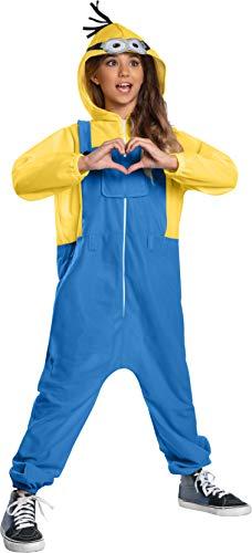 MINION The Rise of Gru Onesie Child Kids Halloween Costume Includes 1 Hooded Jumpsuit Medium (8-10) Yellow
