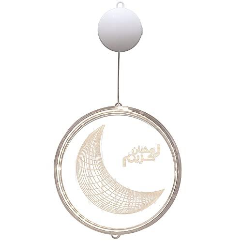 Lecimo Luces Decorativas de Ramadán, Eid Mubarak Ramadán, luz de Noche LED, Luces de Mubarak, decoración Colgante islámica Musulmana