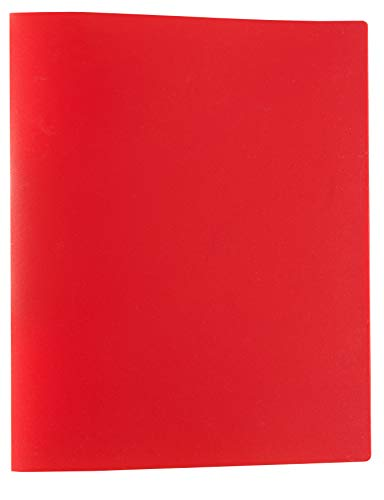 Idena 10432 - Ringbuch im Format DIN A4, mit 2-Ring-Mechanik, 20 mm Rückenbreite, rot, 1 Stück