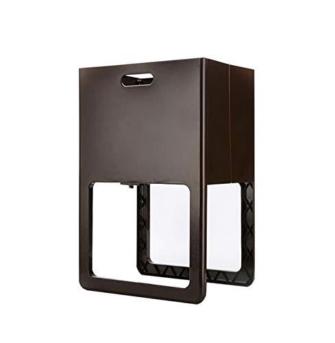 Zhjsnlhfddf Pliegue Plegable Casa IKEA Plástico Ropa Sucia Cesta De Almacenamiento Cesta De Lavandería Cesta De Almacenamiento 篓 (Color : Brown)