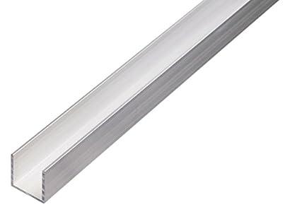 GAH-Alberts 470357.0 Perfil en U (aluminio, 1000 x 25 x 25 mm), color natural