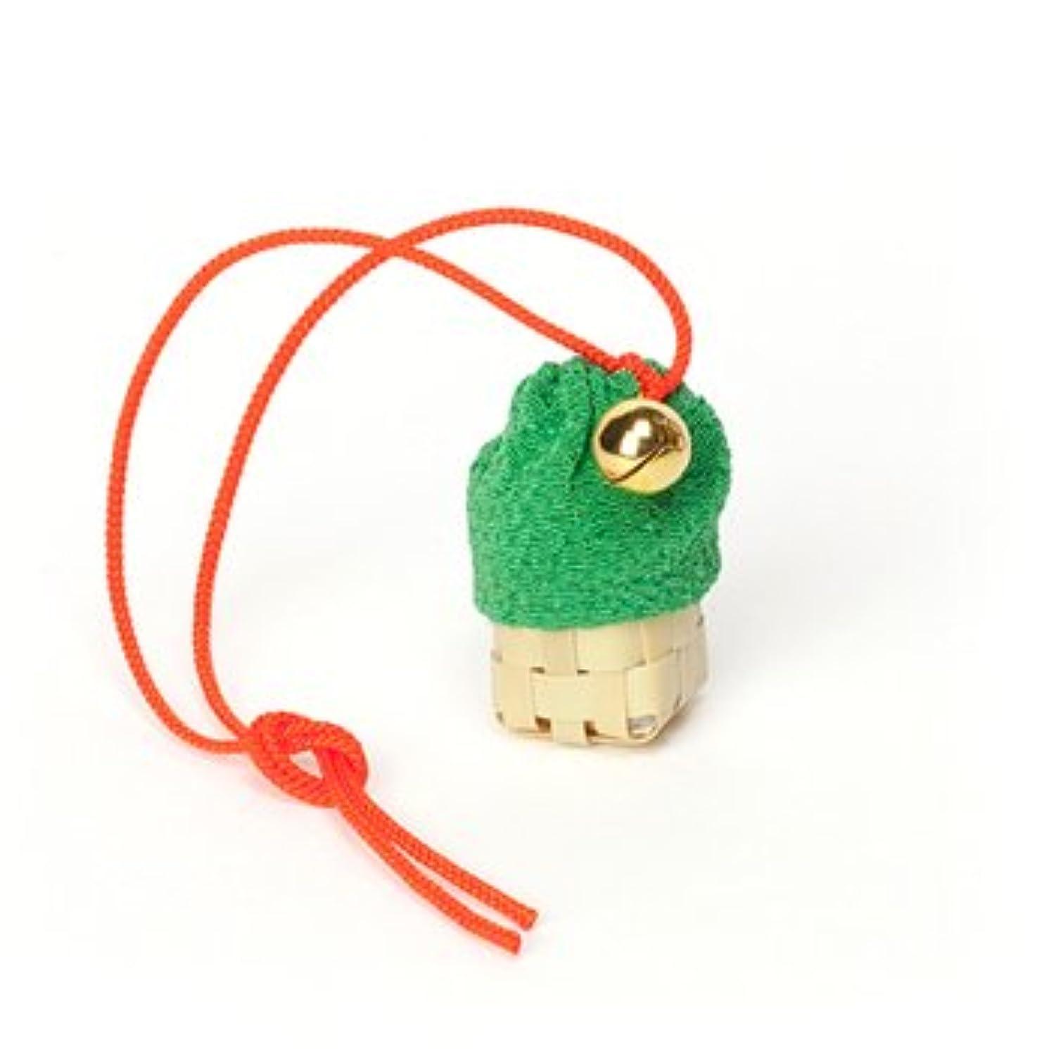 虎置き場コイル松栄堂 匂い袋 携帯用 ミニ籠 1個入 ケースなし (色をお選びください) (緑)