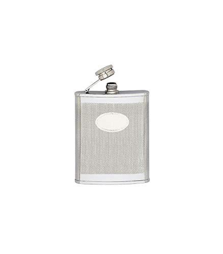 Keen Sport 11609 Flasque INOX guilloché avec écusson, Bouchon baïonnette, 180 ML