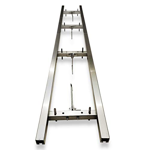 XRKJ Rail Mill Guide System 9 Ft, 3 Crossbar Kits Work with Chainsaw Mill
