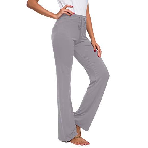 TownCat Pantalones de Entrenamiento para Mujer, Pantalones de Yoga, Pantalones Informales de Yoga con cordón para Yoga y Correr, Tallas (Gris Claro, M)