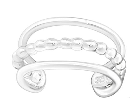 La Rosa Princesa – Triple Ear Cuff Pendientes de plata de ley 925 – Fake Helix Knorpel Piercing – Piercing para la oreja