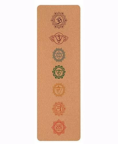 Corcho Natural De Yoga Ecológico, Esterilla De Yoga, Excelente Agarre, Grueso Y Apto para Yoga, Pilates, Gimnasia Y Patinaje Fitness. (Color : D, Size : 1830x610x4MM)