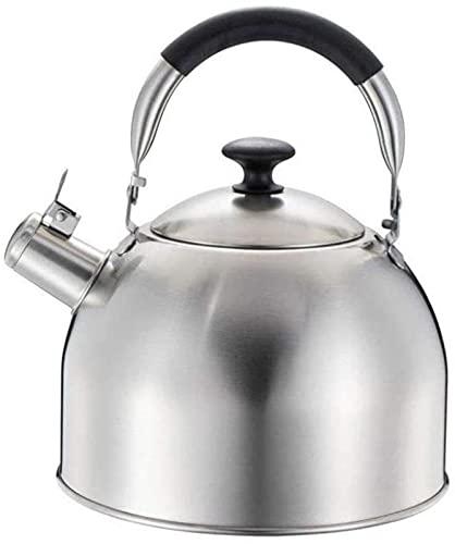 2,5/4 / 5,5 Moderna visslande kokplattor, 304 rostfritt stål tekanna, antiskold handtag, induktionshällar, gasspis (storlek: 4L)