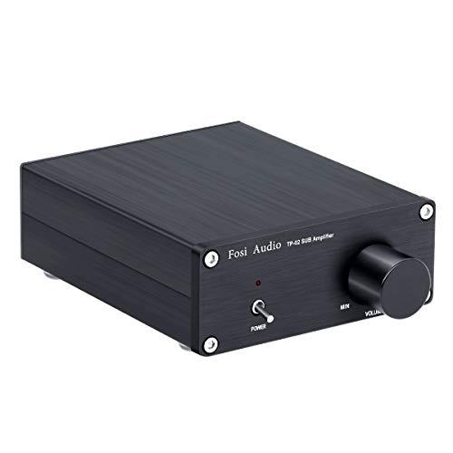 Fosi Audio TP-02 - Subwoofer Verstärker Mini Sub Bass Verstärker Digital Class D Integrierter Subwoofer Verstärker TDA7498E 220Watt x1