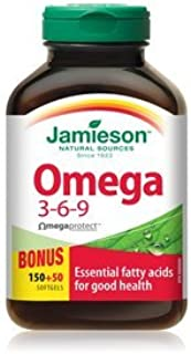 Jamieson Omega 3-6-9, 1200mg, 200 softgels Bonus