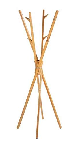 WENKO Standgarderobe Mikado aus Bambus Hängeschrank Hängeregal Diele Flur Garderobe Teleskopgarderobe