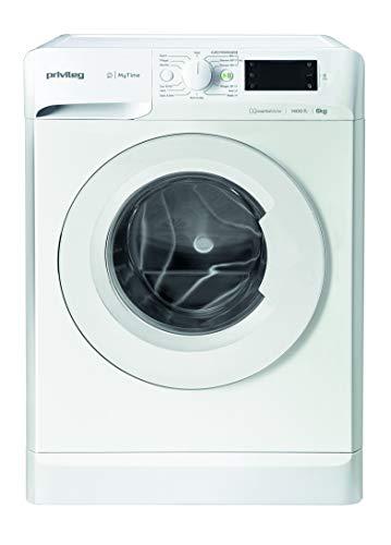 Privileg PWF MT 61483 Waschmaschine Frontlader/A+++/ 1351 UpM/ 6 kg/Startzeitvorwahl/Kurzprogramme/Eco-Motor/Wolle-Programm/Mehrfachwasserschutz, Weiss
