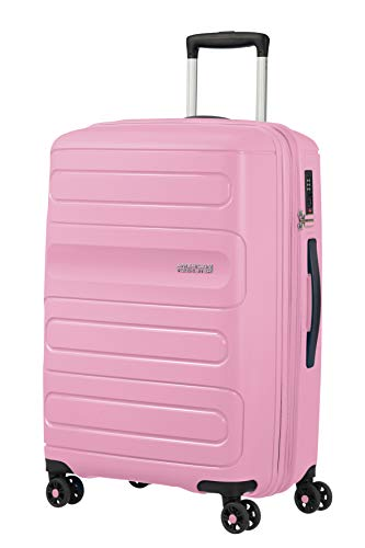 American Tourister Sunside - Spinner M Expandable Suitcase, 67.5 cm, 72.5/83.5 Litre, Pink (Pink Gelato)