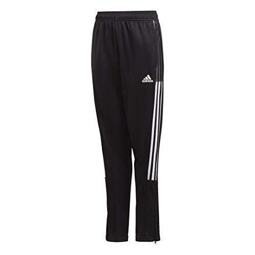 adidas unisex-child Tiro 21 Track Pants Black/White X-Large
