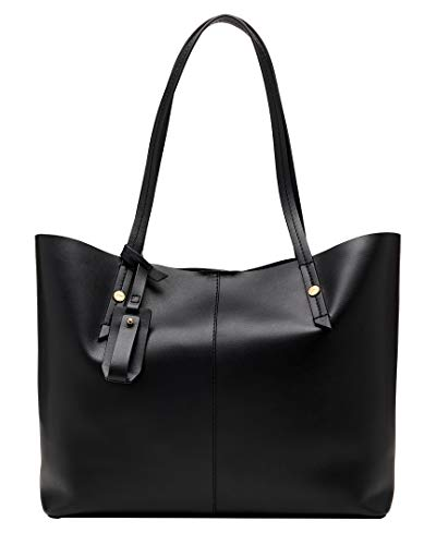 J.Crew Smooth Leather Unlined E/W Tote Black One Size