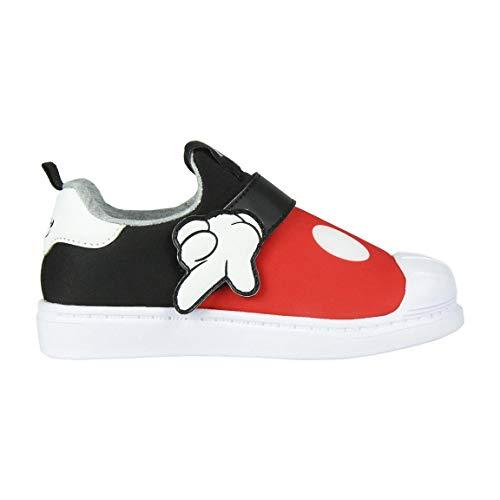 Cerdá Zapatillas Deportivas Niño Mickey Mouse con Suela Ligera, Rojo, 25 EU