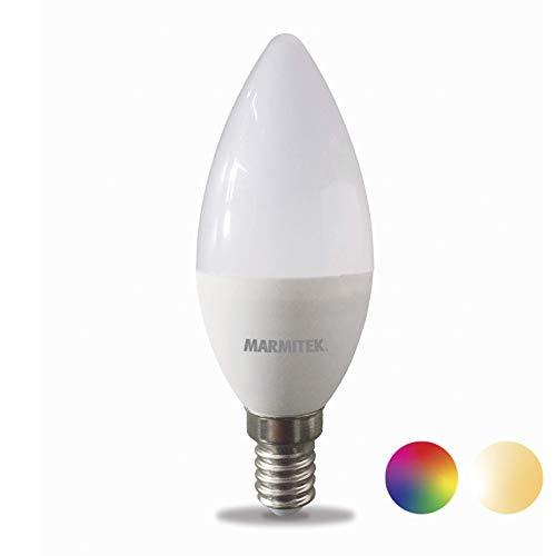 Glow SO - Marmitek Smart me - Smart WiFi LED Lampe – E14 - 380 lumen - RGB - 16 Mio Farben - 4,5 W = 35 W – C31 - LED Glühbirne - Dimmbar mit app - Kompatibel mit Alexa, Google Assistant - Kein Hub