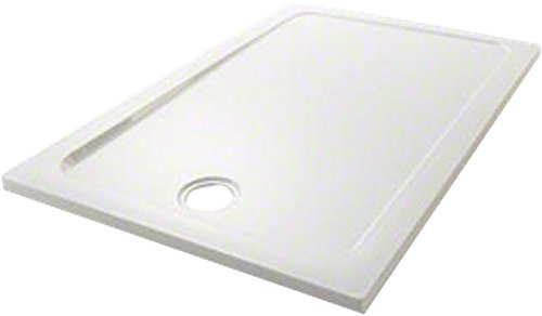 Mira Flight Low Profile 40mm Acrylic Capped Resin Stone Shower Tray Rectangular 1200 x 760 4 Upstands (UPS) White 1.1697.345.WH