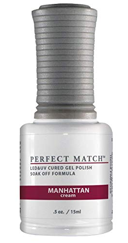 LeChat Perfect Match UV/LED Nail Gel en Polish Manhattan, per stuk verpakt (1 x 15 ml)