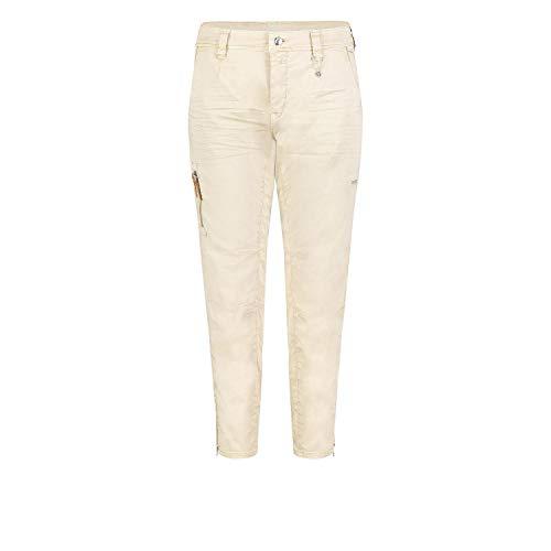 MAC Jeans Damen Rich Cargo Straight Jeans, Beige (Smooth Beige 214v), W38/L26