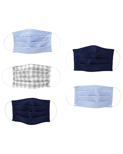 Simple Joys by Carter's Kids' 5-Pack Face Masks, Stripes/Solids, One Size